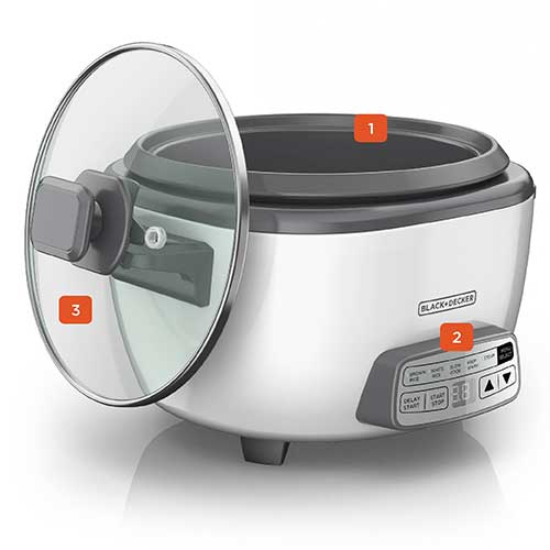 black and decker 14 cup digital rice cooker and steamer rcd514